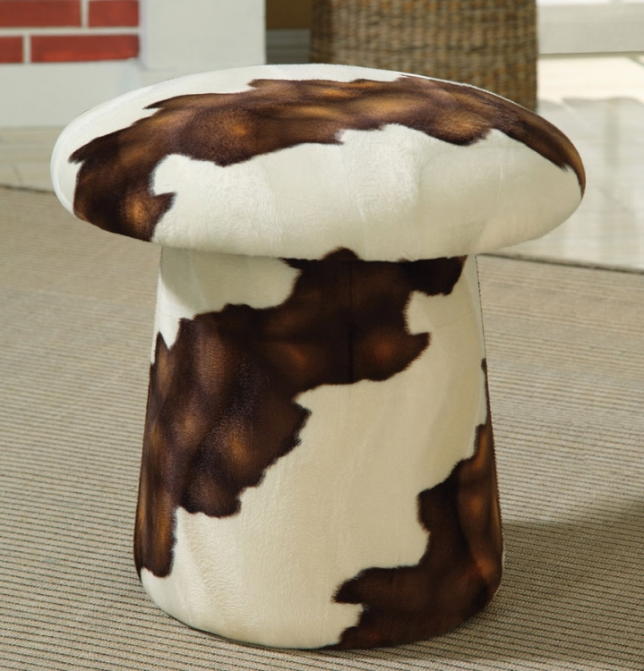 50091X Swivel Ottoman - White/Brown - Coaster