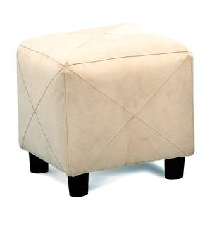 Cermak Taupe Cube Ottoman