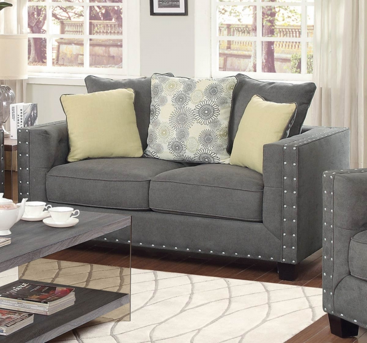 Kelvington Love Seat - Charcoal
