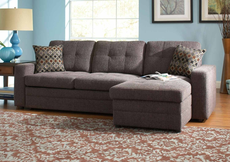 Gus Sectional Sofa - Charcoal/Black
