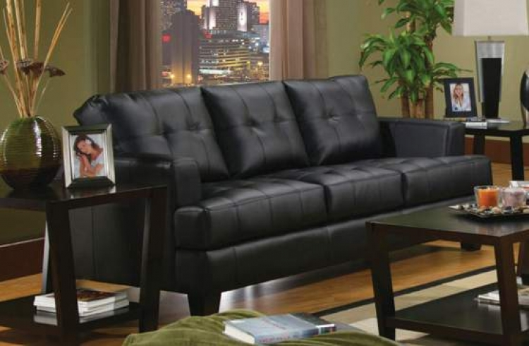 Samuel Sofa - Black - Coaster