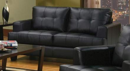 Samuel Love Seat - Black - Coaster