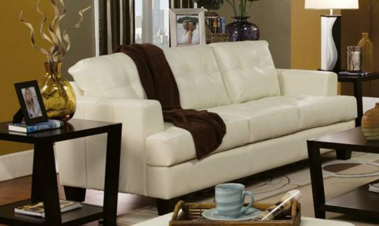 Samuel Sofa - Cream - Coaster