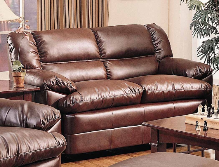 Harper Overstuffed Loveseat - Brown - Coaster
