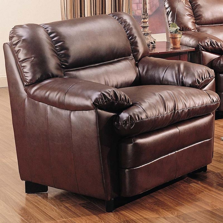 Harper Overstuffed Chair - Brown - Coaster