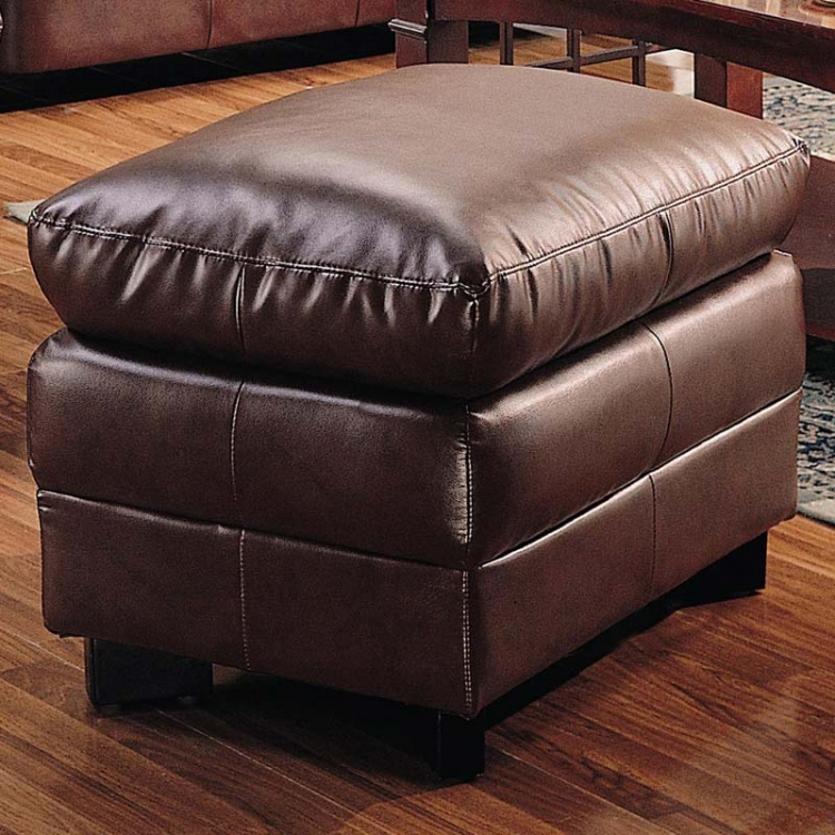 Harper Overstuffed Ottoman - Brown - Coaster