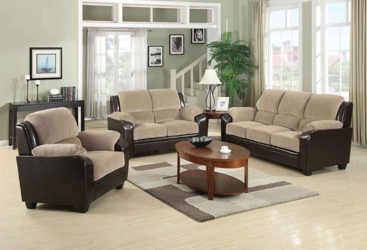 Monika Living Room Set - Beige - Coaster
