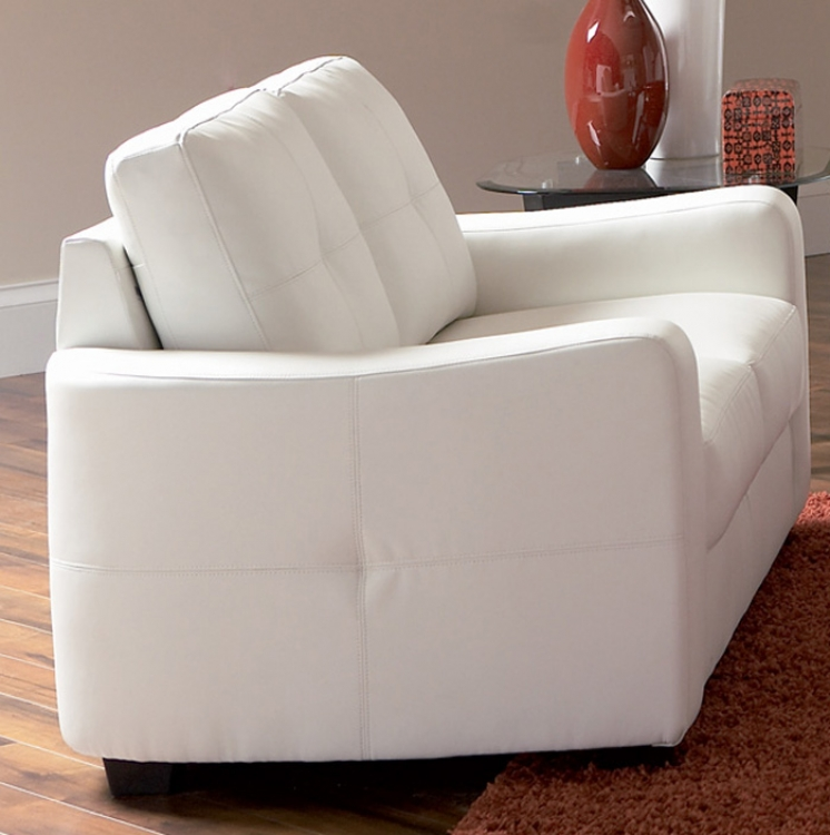 Jasmine Love Seat - White - Coaster