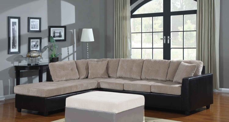Henri Reversible Sectional - Beige/Black - Coaster