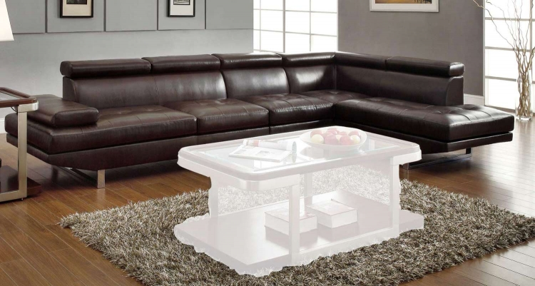 Piper Sectional Sofa Set - Chocolate