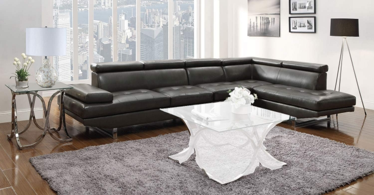 Piper Sectional Sofa Set - Charcoal