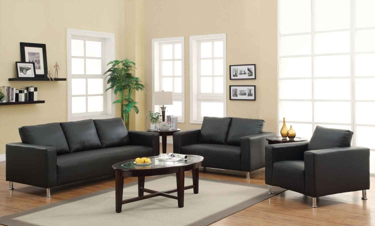 Cooper Living Room Set - Black - Coaster