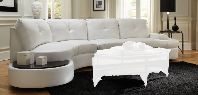 Talia Sectional Sofa - White