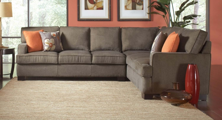 Alvah Sectional Sofa - Olive Brown