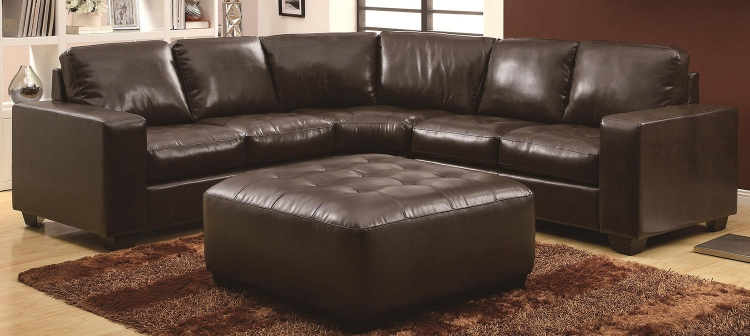 Howard Sectional Sofa Set - Dark Brown