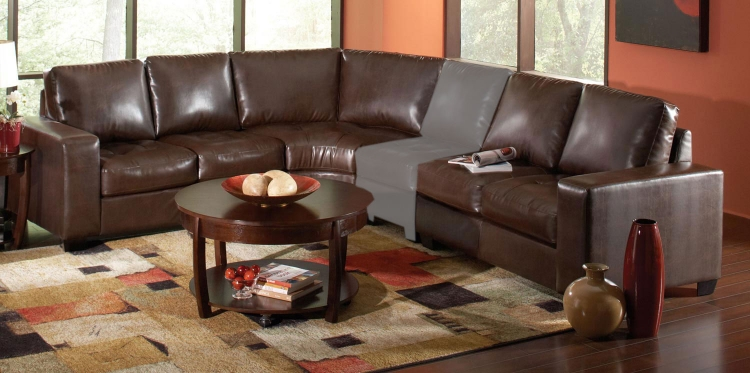 Howard Sectional Sofa - Dark Brown