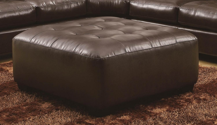 Howard Sectional Ottoman - Dark Brown