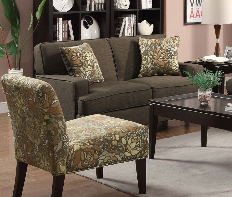 Finley Love Seat - Chocolate