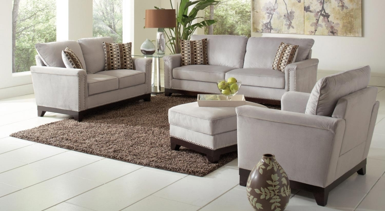 Mason Sofa Set- Blue Grey