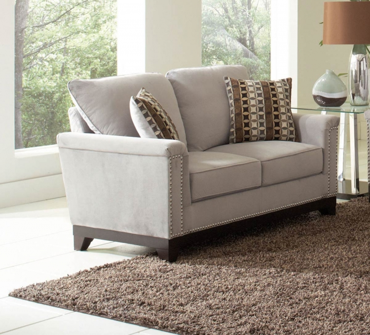 Mason Love Seat - Blue Grey