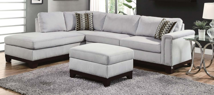 Mason Sectional Sofa Set - Blue Grey