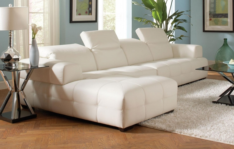 Darby Sectional Sofa Set-White
