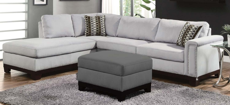 Mason Sectional Sofa - Blue Grey
