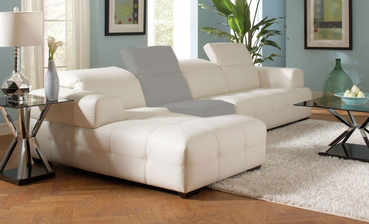 Darby Sectional Sofa - White