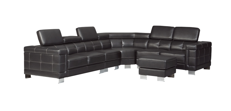 Ralston Sectional Sofa Set - Black