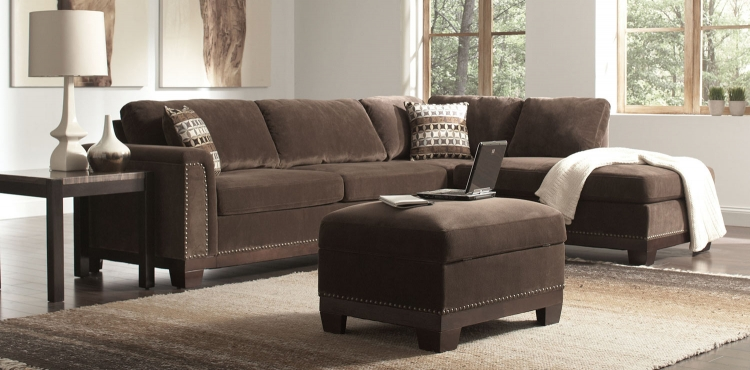 Mason Sectional Sofa Set - Chocolate