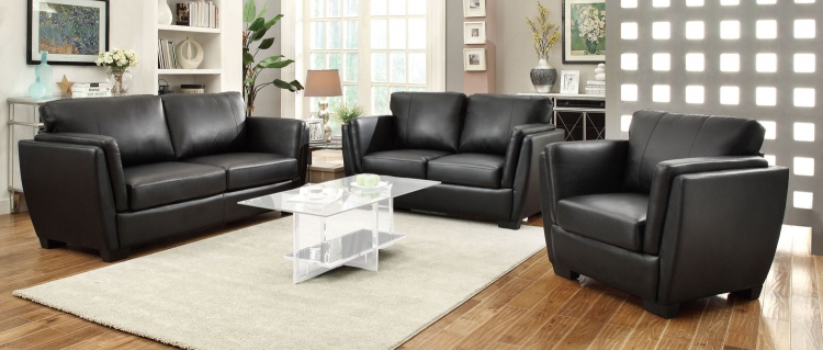 Lois Sofa Set - Black