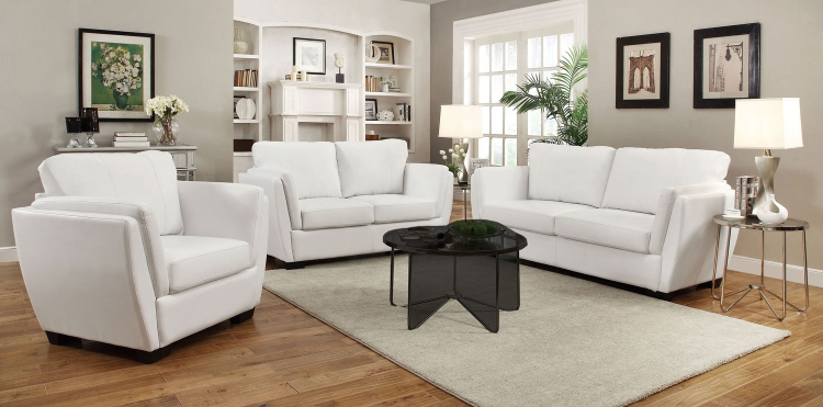Lois Sofa Set - White