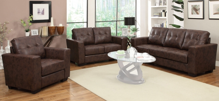 Enright Sofa Set - Brown