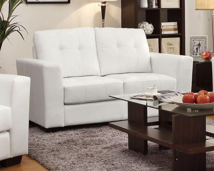 Enright Love Seat - White