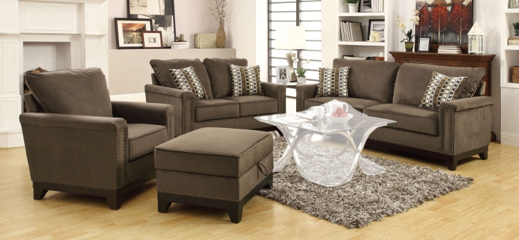 Mason Sofa Set- Chocolate