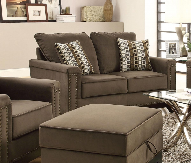 Mason Love Seat - Chocolate
