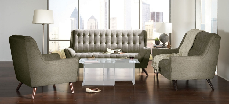 Natalia Sofa Set - Dove Grey