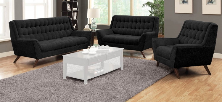 Natalia Sofa Set - Black