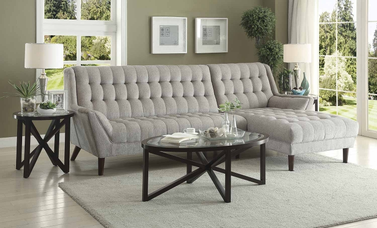 Natalia Sectional Sofa - Dove Grey