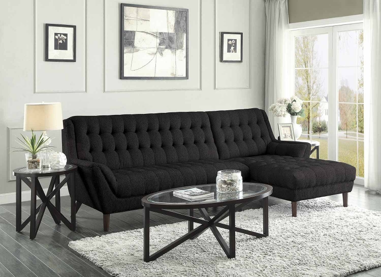 Natalia Sectional Sofa - Black