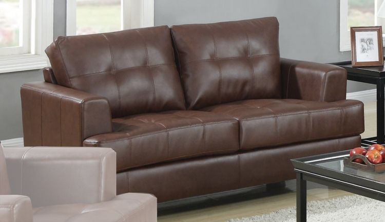 Samuel Love Seat - Dark Brown