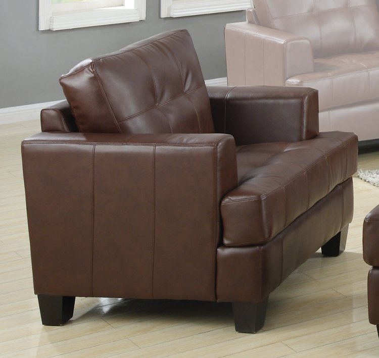 Samuel Chair - Dark Brown - Coaster