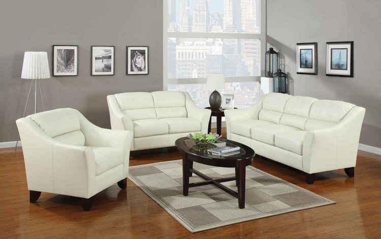 Brooklyn Living Room Set - Ivory - Coaster