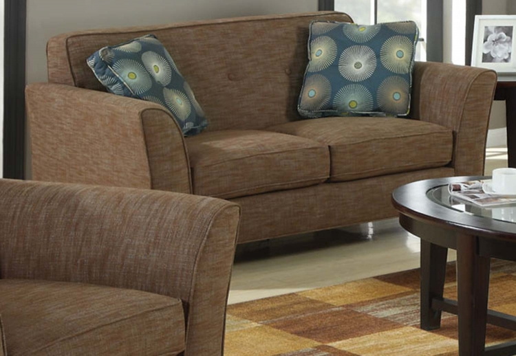 Lilian Love Seat - Blue/Brown - Coaster