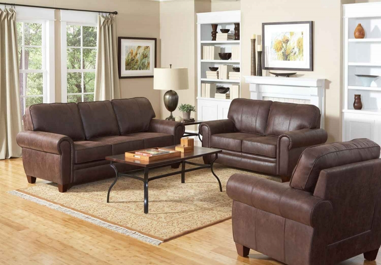Bentley Living Room Set - Brown