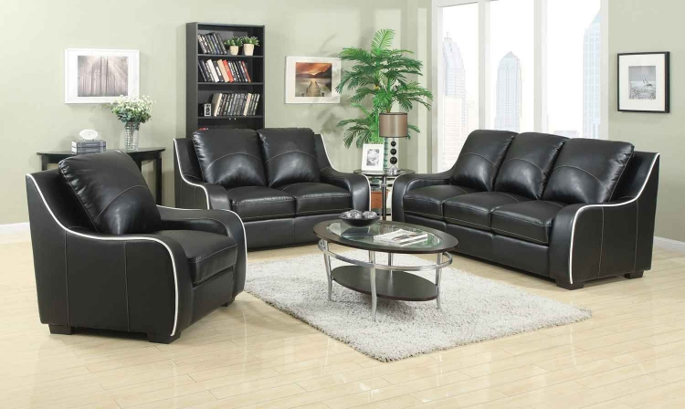 Myles Living Room Set - Black - Coaster