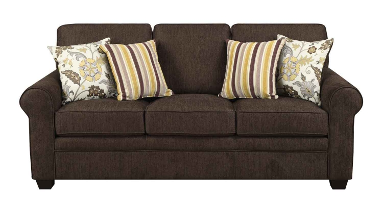 Rosalie Sofa - Brown Black - Coaster