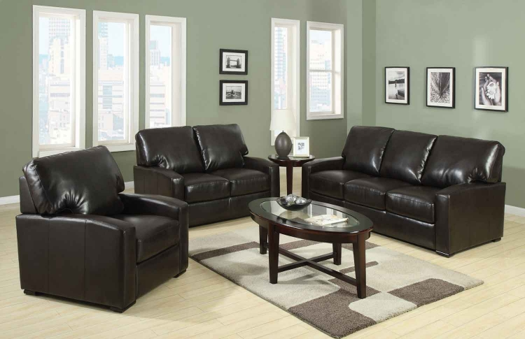 Kelsey Living Room Set - Rich Brown - Coaster