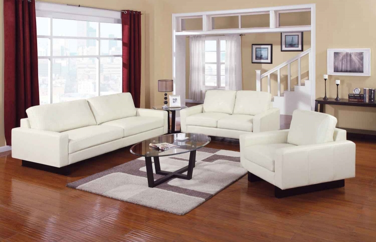 Ava Living Room Set - Cream - Coaster