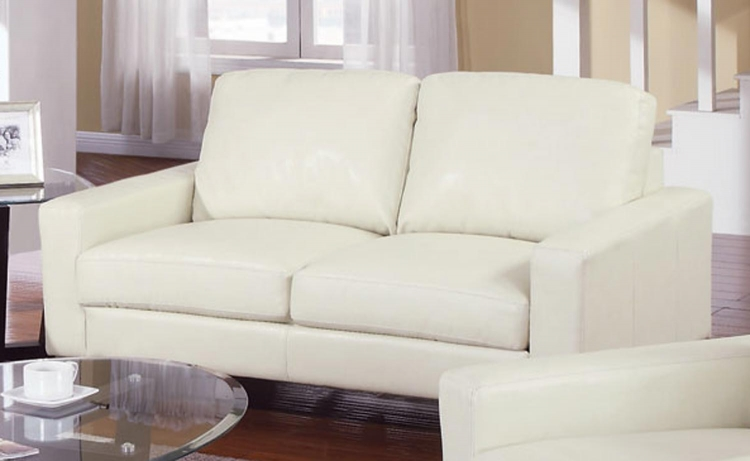 Ava Love Seat - Cream - Coaster